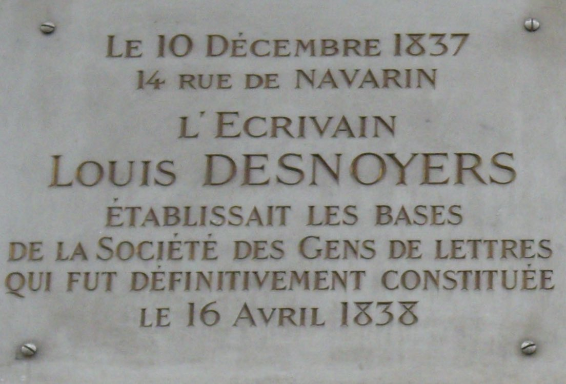 Plaque_Louis_Desnoyers,_14_rue_de_Navarin,_Paris_9 - copie.jpg