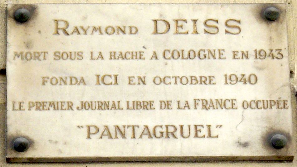 Plaque_Raymond_Deiss,_5_rue_Rouget_de_Lisle,_Paris_1.jpg